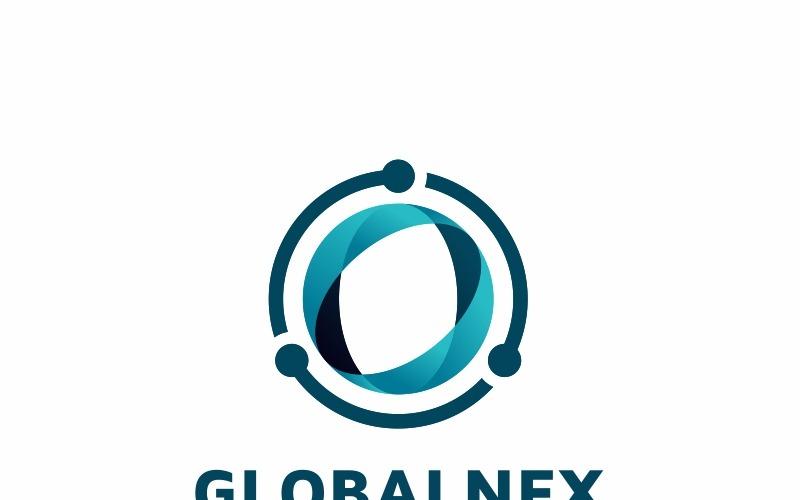 Modèle de logo d'entreprise mondiale
