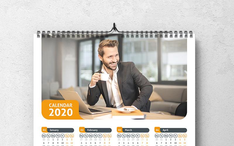 Календарь 2020 с планировщиком трех цветовых стилей