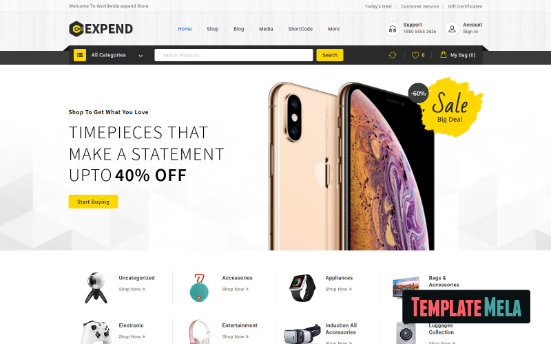 Expend - Elektronik WooCommerce Teması