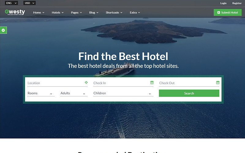 Gwesty - Hotel Booking Website Template