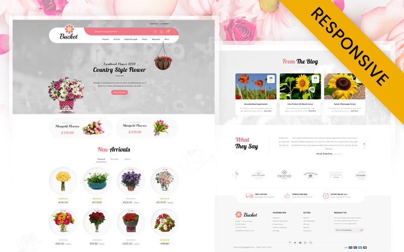 OpenCart šablona obchodu s květinami