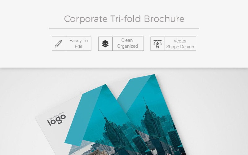 Pikivolei Tri-fold Brochure - Corporate Identity Template