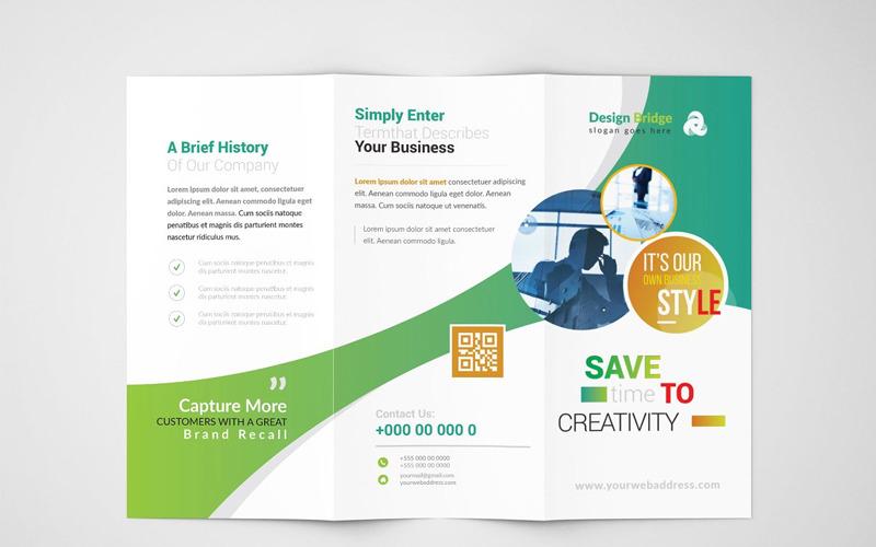 Простая тройная брошюра Nimba - шаблон фирменного стиля