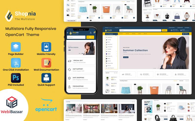Shopnia - Multifunctionele OpenCart-sjabloon
