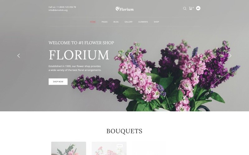 Florium - Flower Store Modern Multipage HTML Website Template