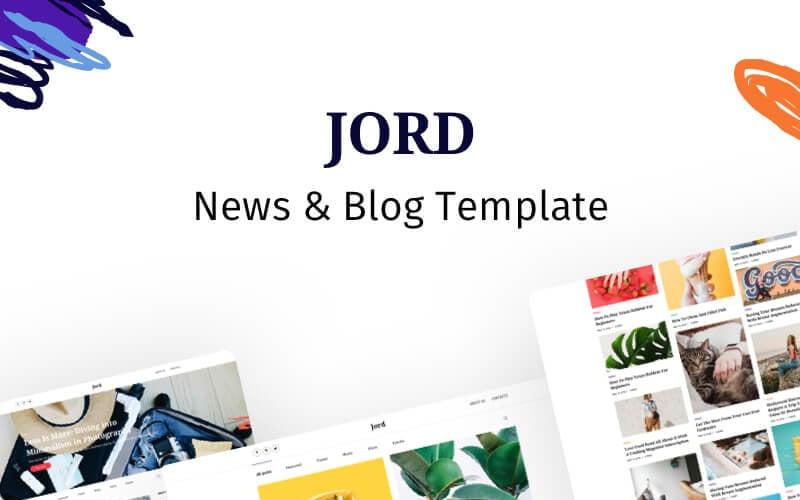 Jord - Blog Website Template