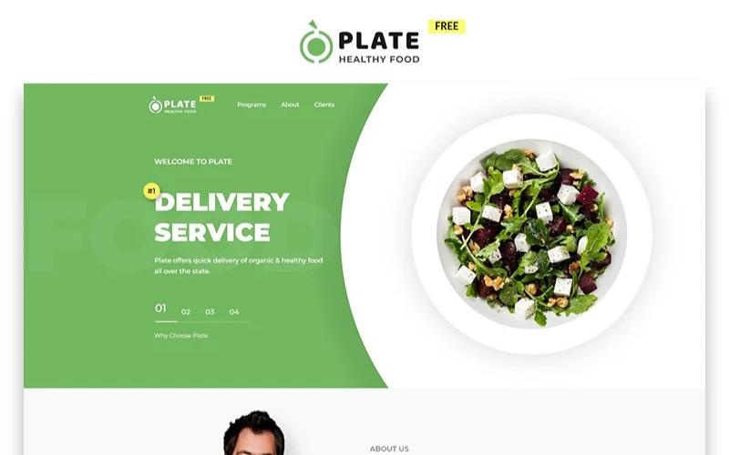 Plate - Jídlo a pití zdarma Šablona vstupní stránky HTML