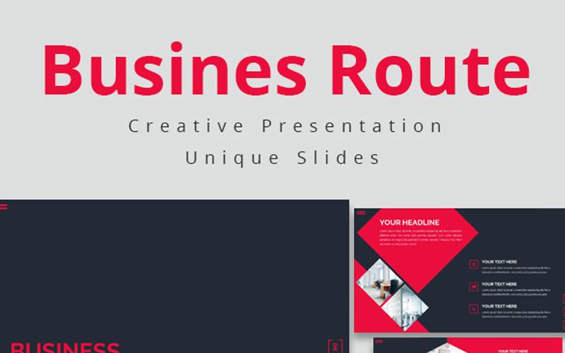 Business Route - Keynote-Vorlage
