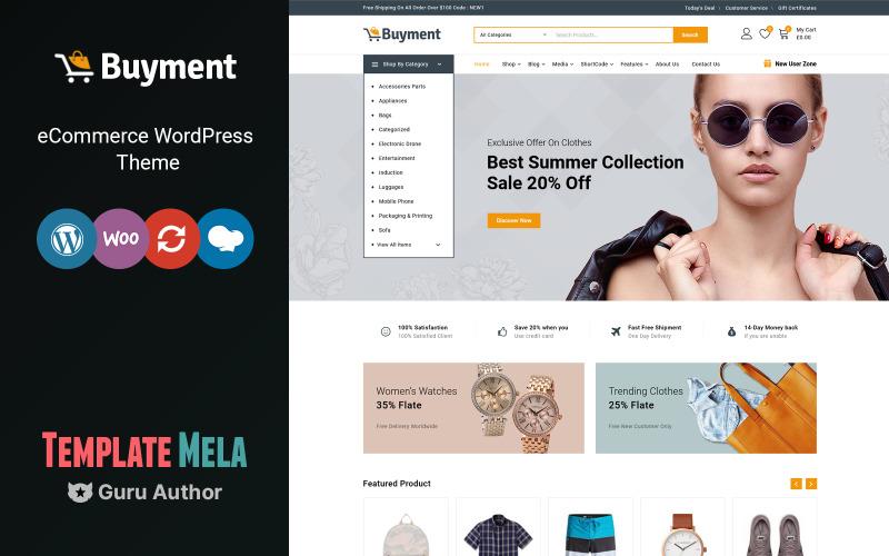 Buyment - Tema de WooCommerce multipropósito
