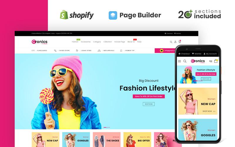 Cronics többcélú üzlet Shopify téma