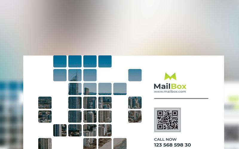 Poštovní schránka - obchodní leták - šablona Corporate Identity