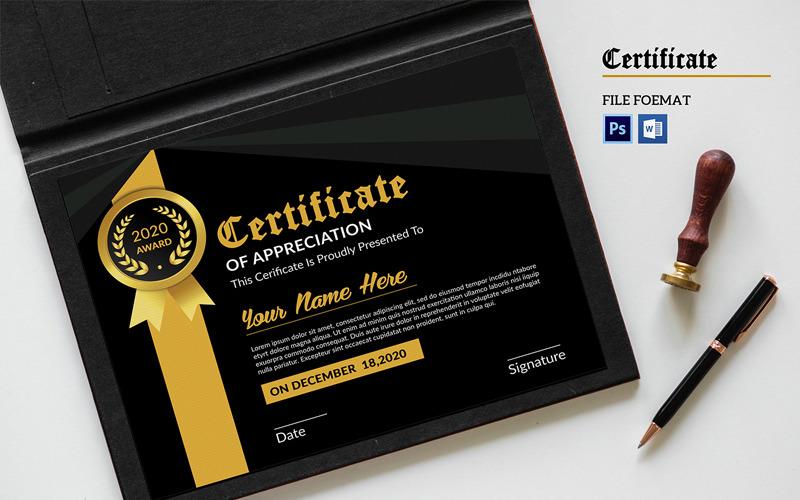 Sistec Appreciation Certificate Template