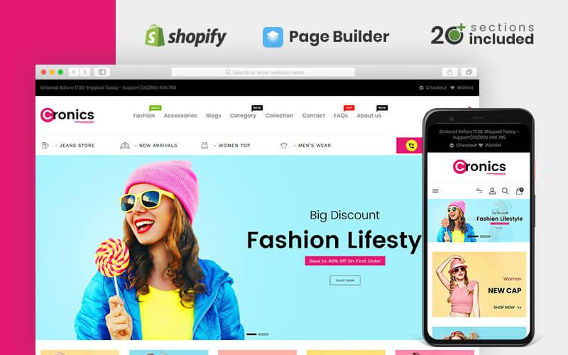 Tema Shopify del negozio multiuso Cronics