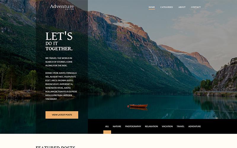Adventure - Cestovní blog PSD šablona