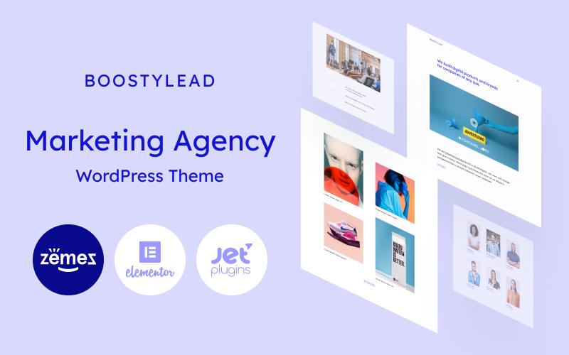 Boostylead - Šablona webových stránek marketingové agentury s elegantním designem a tématem WordPress Elementor