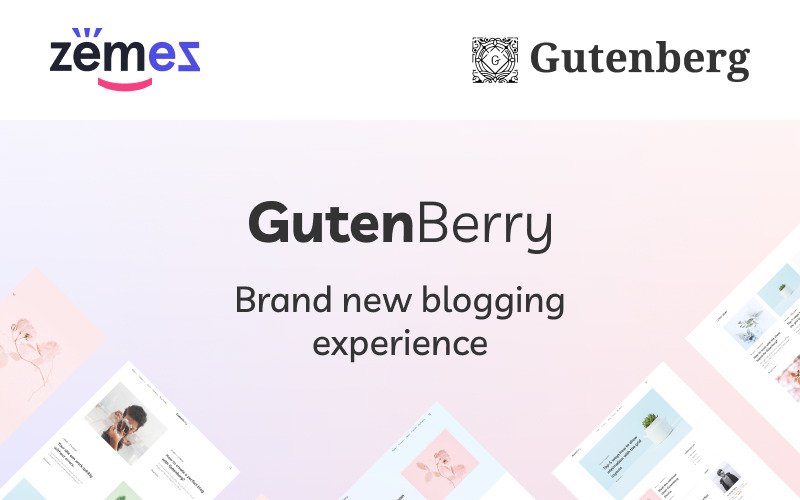 Gutenberry - Šablona WordPress Clean Blog založená na Gutenbergu