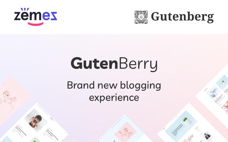Gutenberry - WordPress тема для чистых блогов на основе Гутенберга