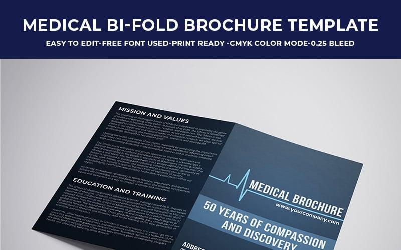 Lékařská brožura Bi fold - šablona Corporate Identity