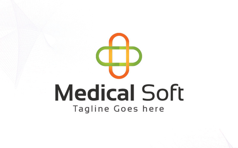 Lékařské měkké logo šablona