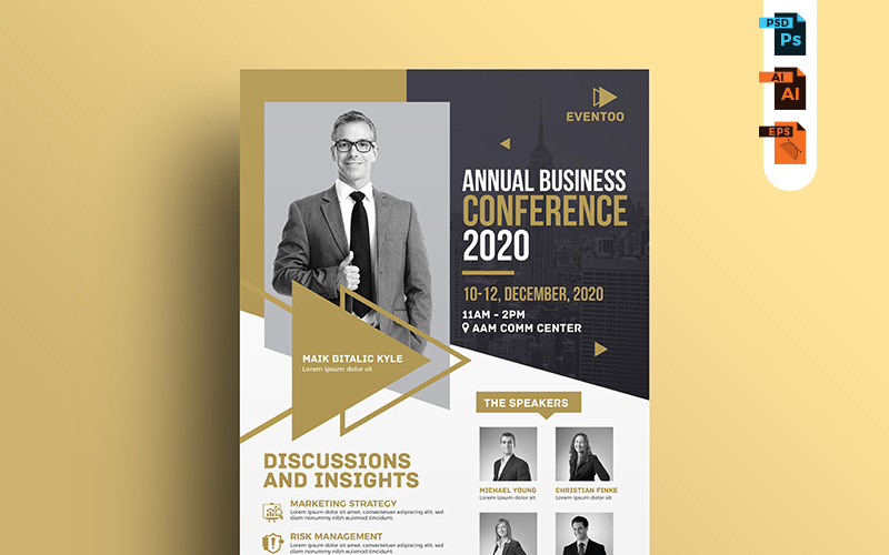 Leták o události / konferenci - šablona Corporate Identity