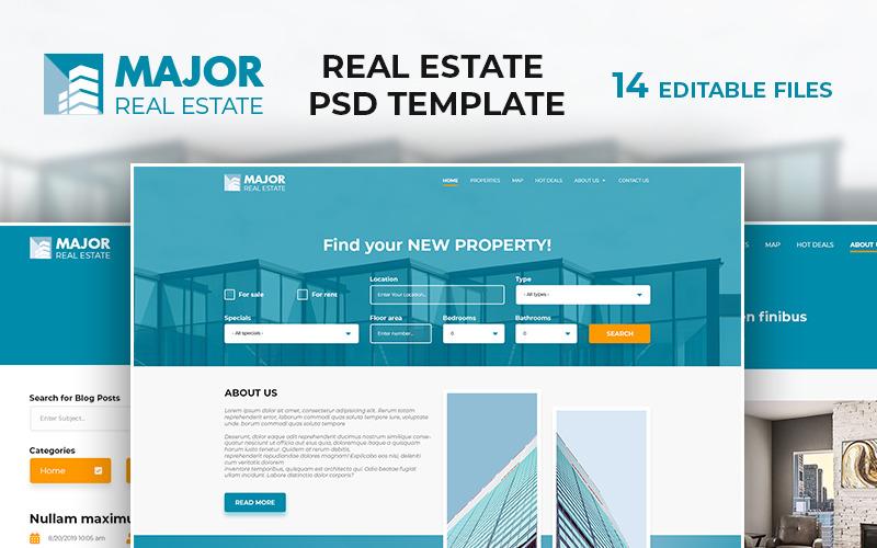Major - Šablona PSD Real Estate