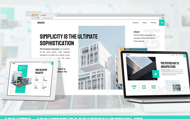 Arquitec - Architecture PowerPoint šablony