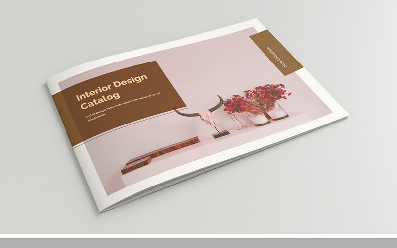 Rozložení katalogu s hnědými akcenty, 24 stránek - šablona Corporate Identity
