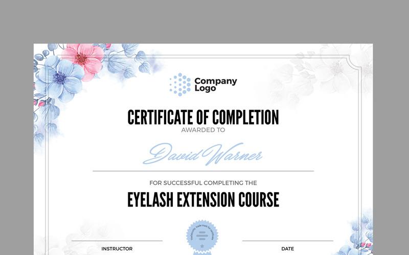 Šablona certifikátu společnosti