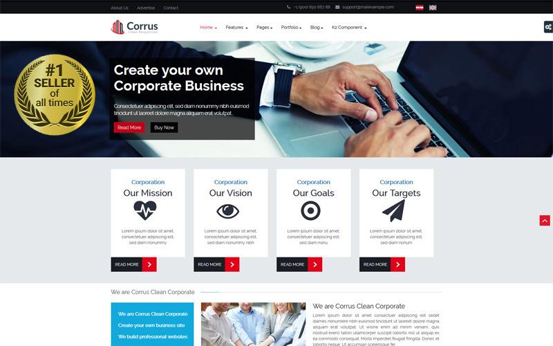 Šablona Joomla společnosti Corrus Business Corporation