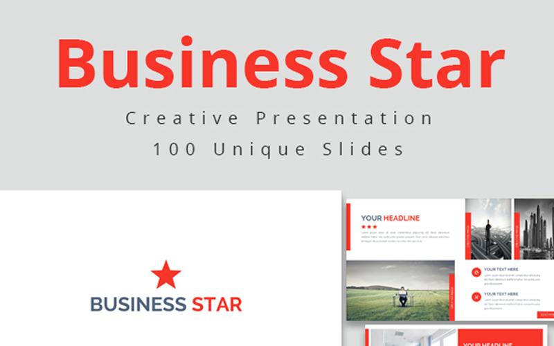 Business Star - šablona Keynote