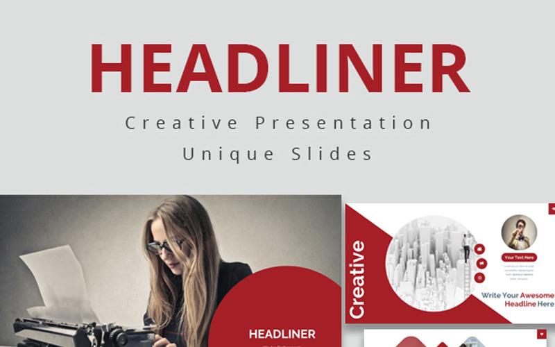 Headliner - šablona Keynote