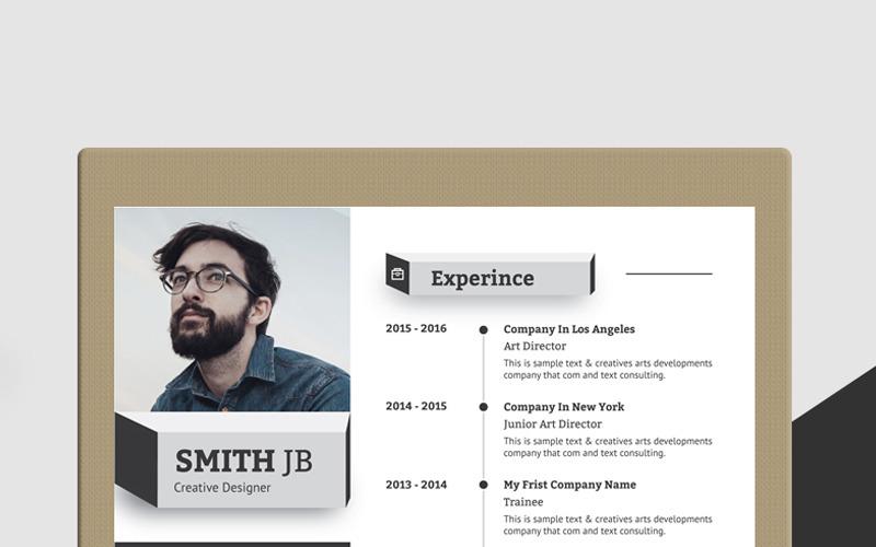 Šablona životopisu Smitha Jb