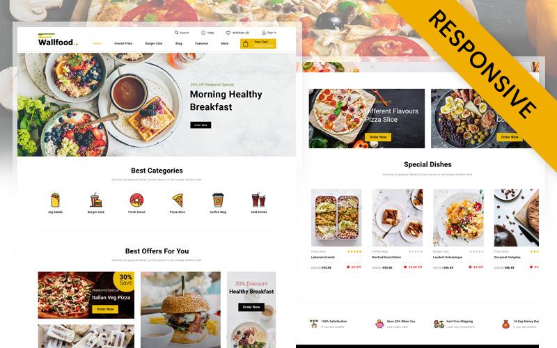 WallFood - PrestaShop motiv Restaurace