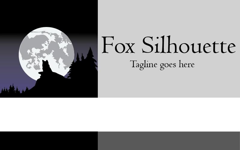 Fox silueta Logo šablona