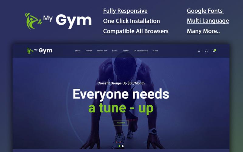 Mygym - šablona OpenCart online obchodu s fitness