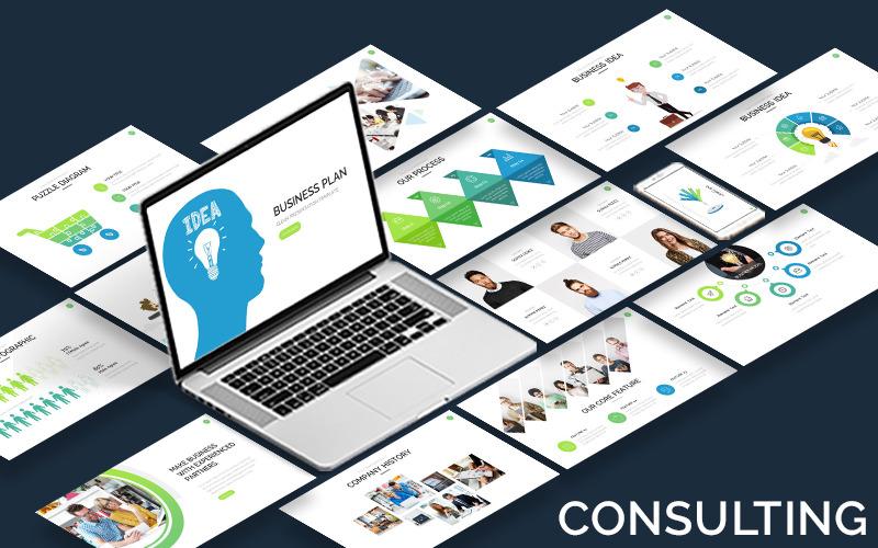 Poradenství - podnikatelský plán - šablona Keynote