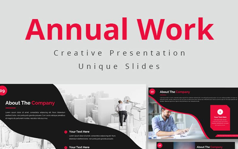 Roční práce PowerPoint šablony