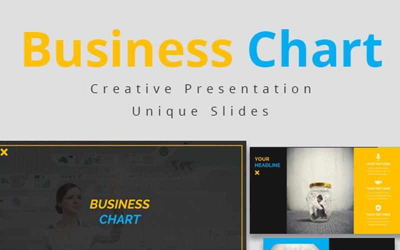 Obchodní graf PowerPoint šablony