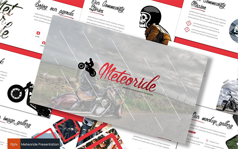 Meteoride PowerPoint šablony