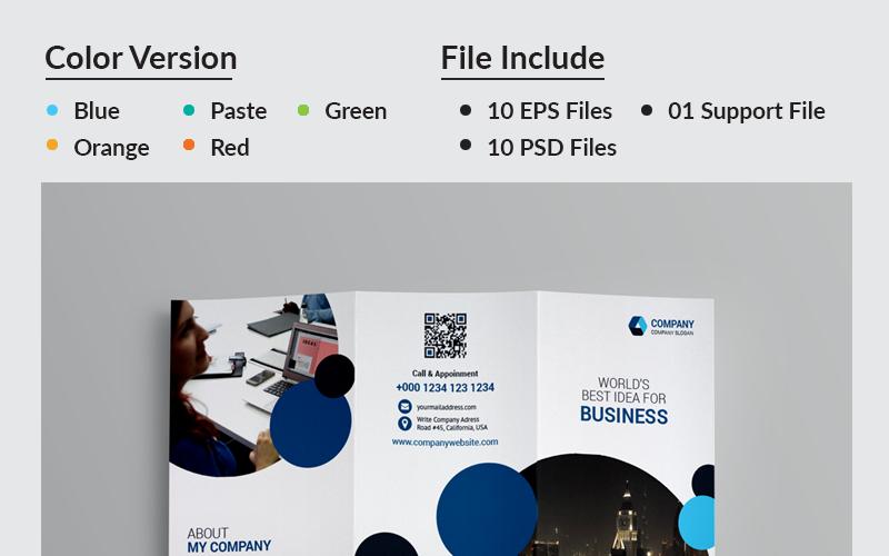 Trojskládanka JK Business - šablona Corporate Identity