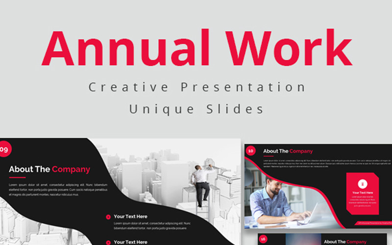Roční práce - šablona Keynote