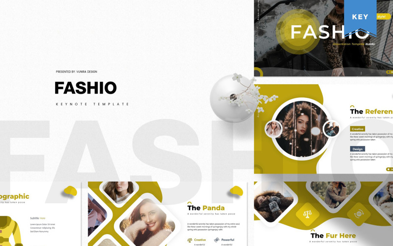 Fashio - šablona Keynote