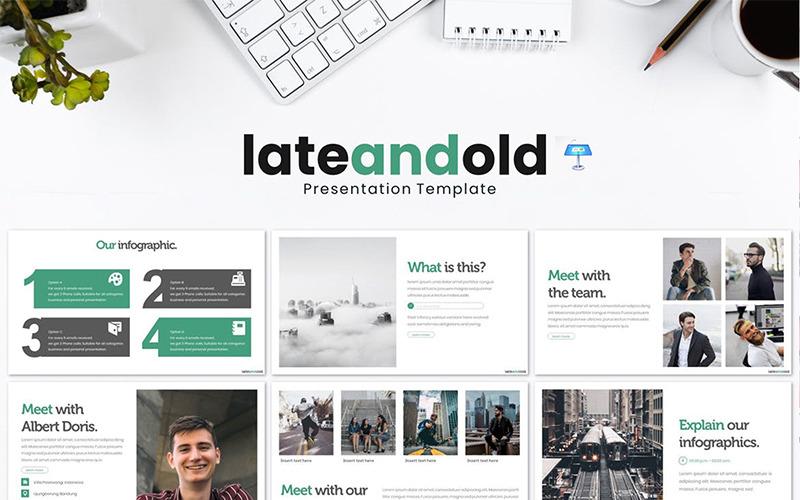 Lateandold - šablona Keynote
