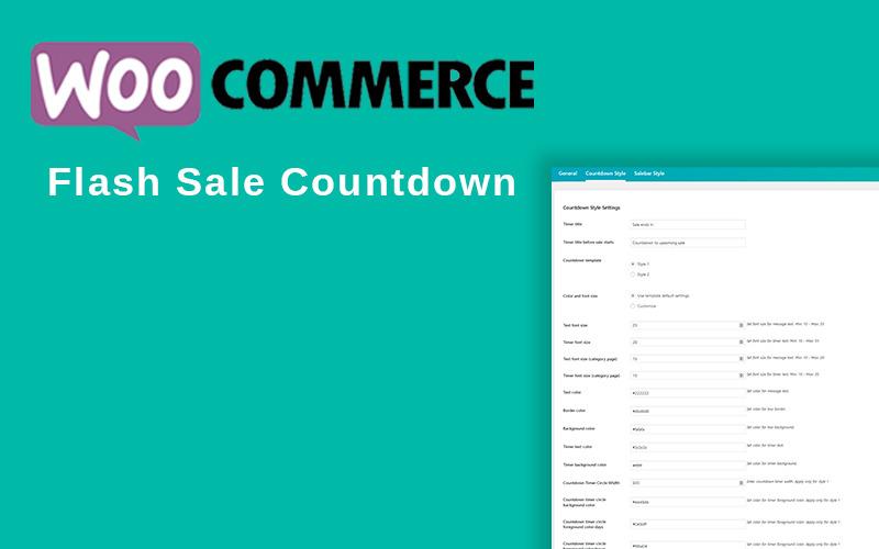 Complemento de WordPress de cuenta regresiva de venta flash de WooCommerce