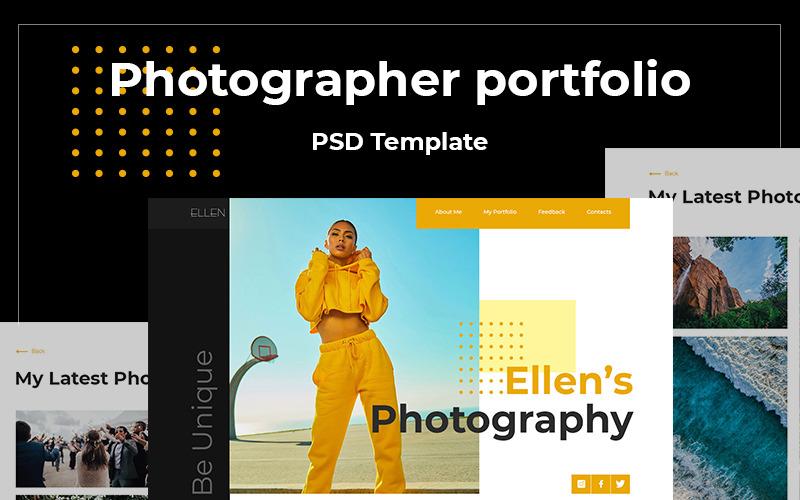 Ellen's Photography PSD Template