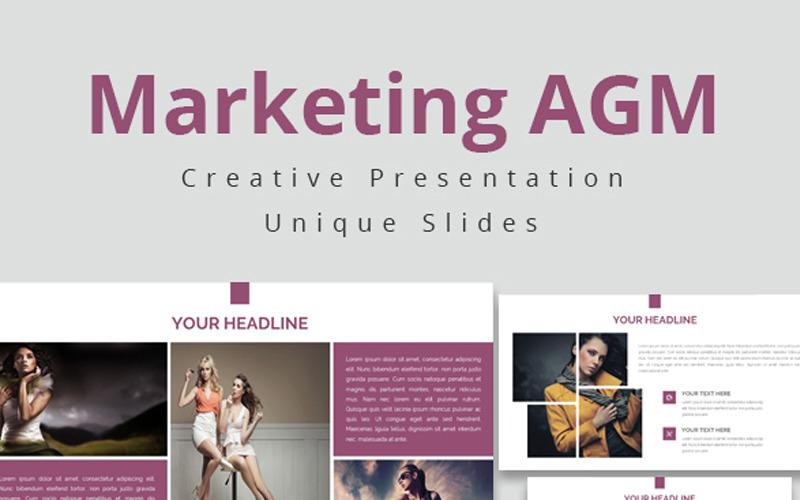 AGM de marketing - modelo de apresentação