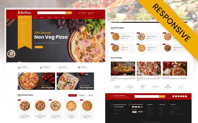 OpenCart šablona Hot Pizza Store