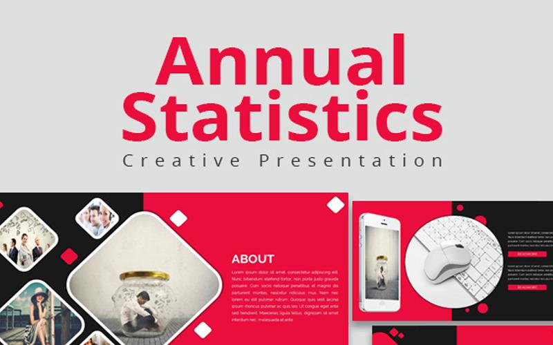 Roční statistika PowerPoint šablony