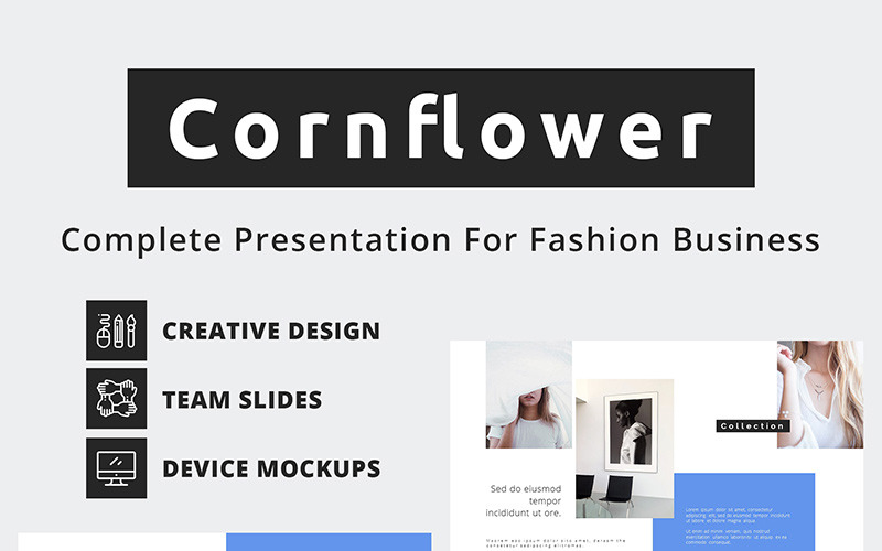 Chrpa Fashion Business PowerPoint šablony