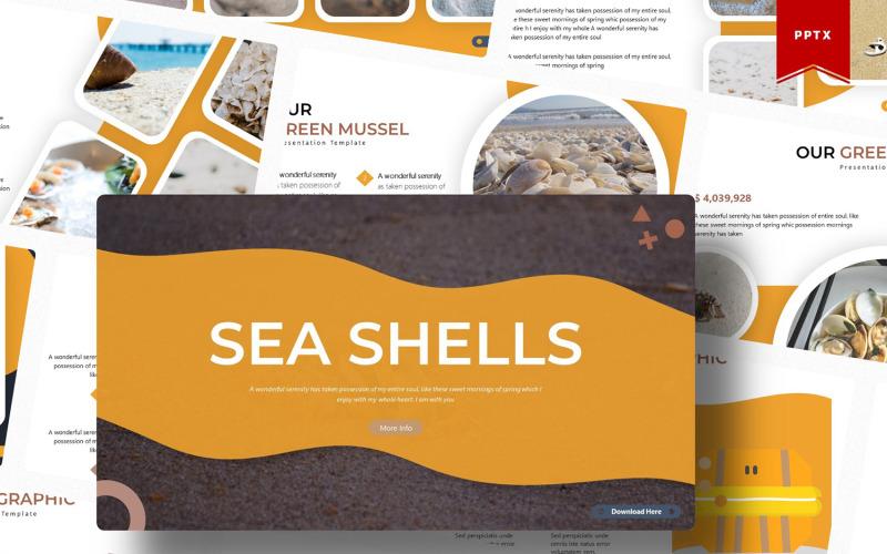 Mořské mušle | PowerPoint šablony